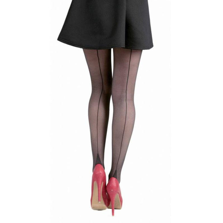 Image of Sheer Seamed Tights - Black