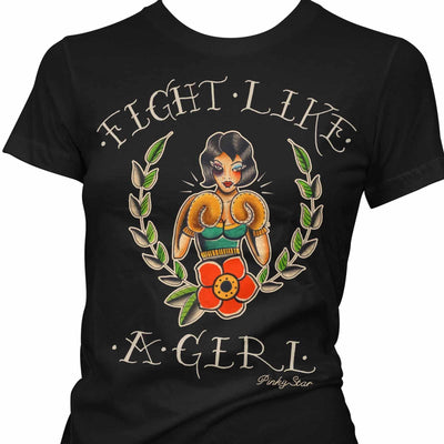 Image of Pinky Star Women's T-Shirt - Fight Like A Girl
