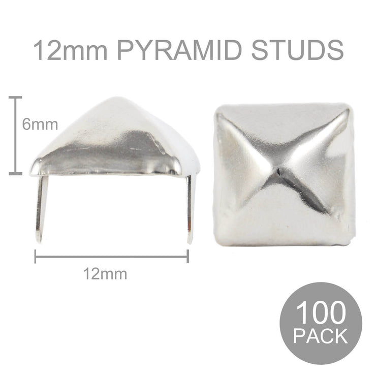 Pyramid Studs - 12mm wide (Pack of 100)
