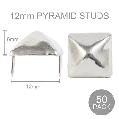 Pyramid Studs - 12mm Wide (Pack of 50)