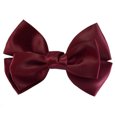 Hair Clip - Satin - Burgundy