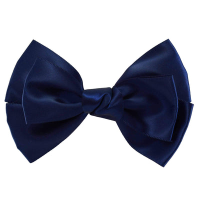 Hair Clip - Satin - Navy Blue