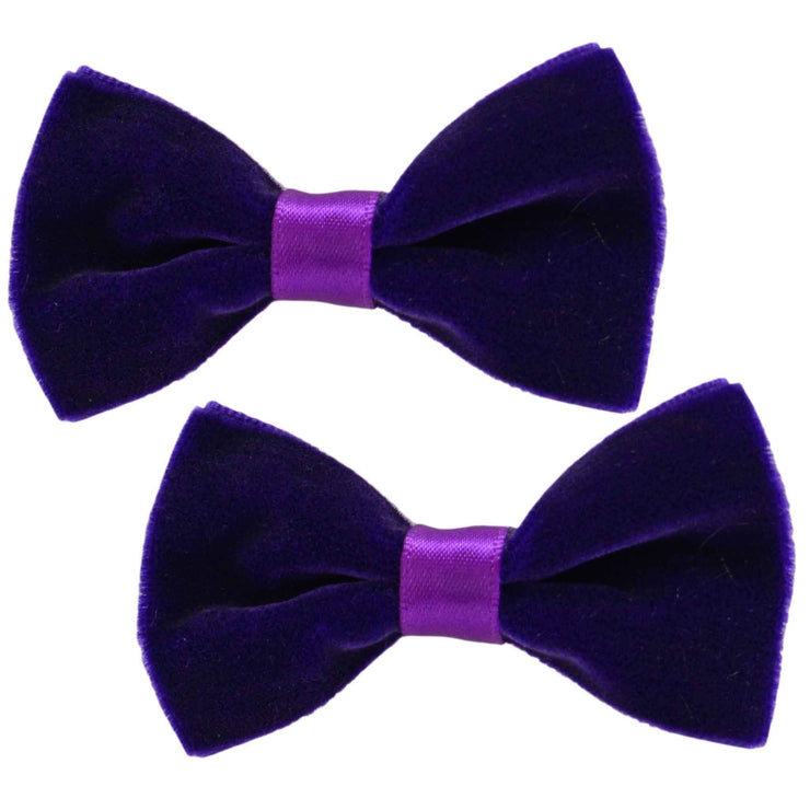 Hair Clips - Velvet - Purple
