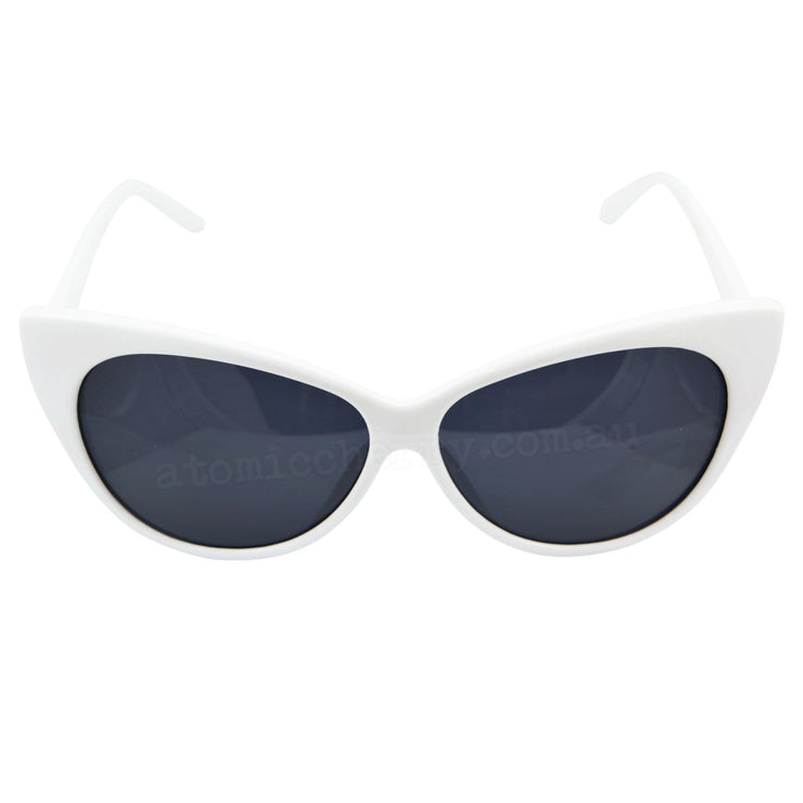 Image of Cat Eye Sunglasses - White