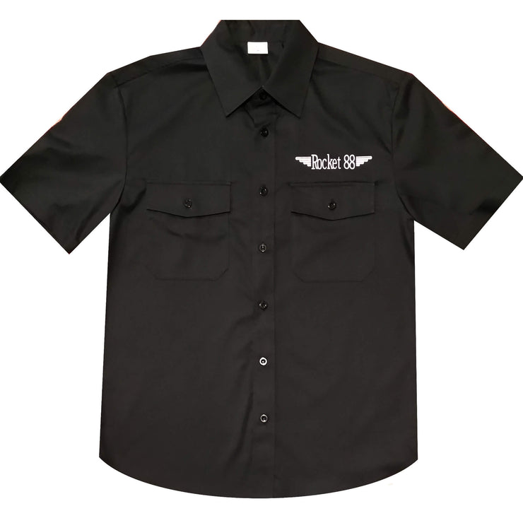 Rocket 88 Retro Work Shirt - Hot Rod Garage front