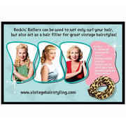 Image of Vintage Hairstyling Rockin' Rollers Soft Hair Roller Set