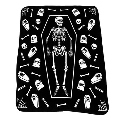 Photo of Sourpuss Skeleton Throw Blanket