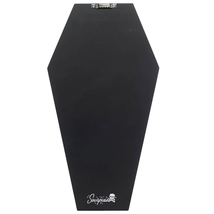 Back photo sourpuss bat print coffin shelf