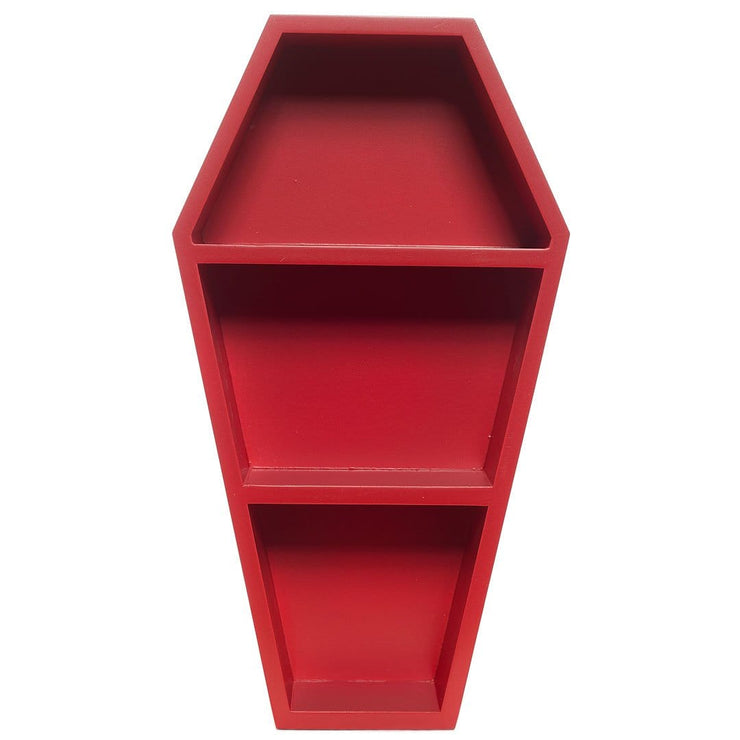 Image of Sourpuss Coffin Shelf - Red