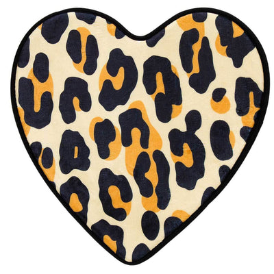 Sourpuss Bath Mat - Leopard Print Heart