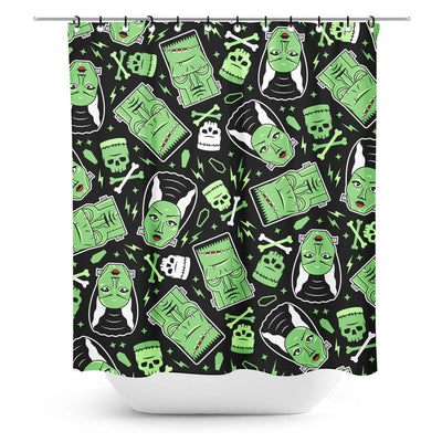 Sourpuss Frankenstein Monsters Shower Curtain
