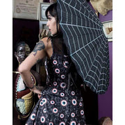 Image of Sourpuss Gothic Spider Web Parasol