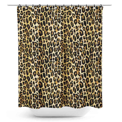 Sourpuss Leopard Retro Shower Curtain
