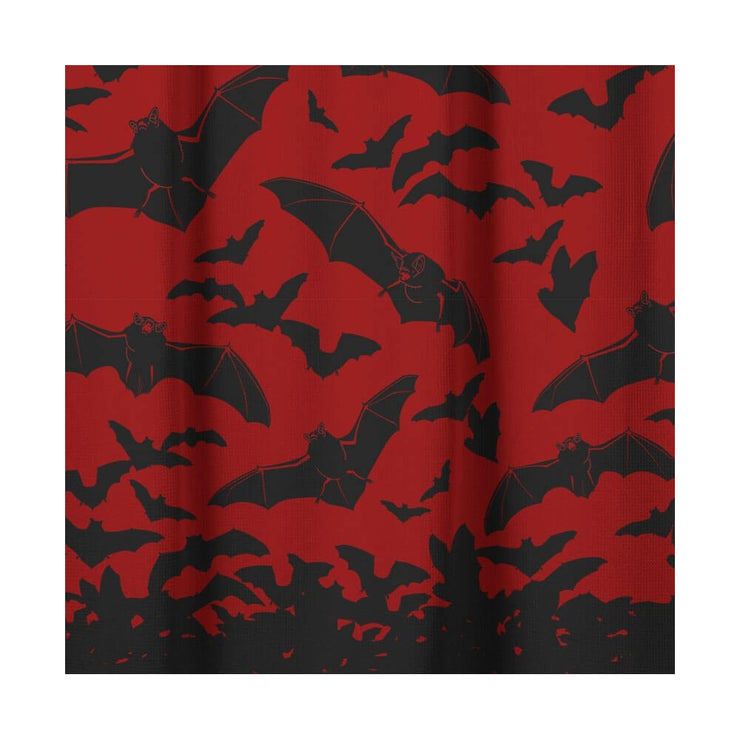 Close up picture Sourpuss Spooksville Bats Shower Curtain
