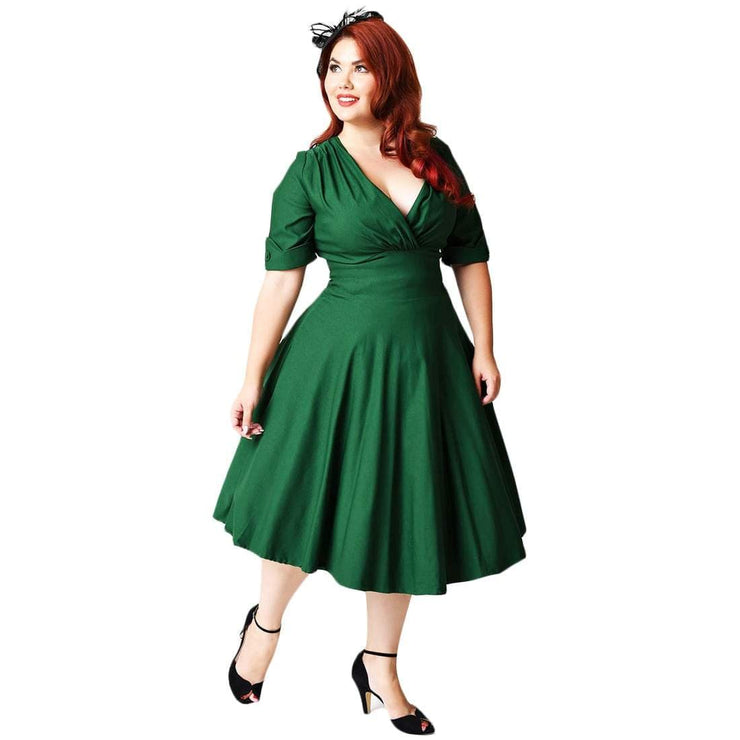 Image of Unique Vintage Delores Dress - Green