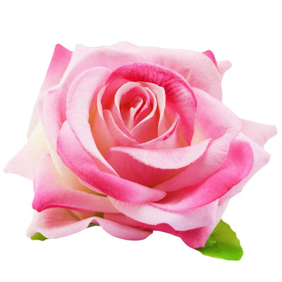 Image of Velvet Rose Flower Hair Clip/Brooch - Pink