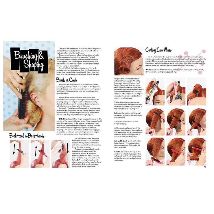 Vintage Hairstyling Book: Retro Styles with Step-by-Step Techniques (3rd Ed) brushing