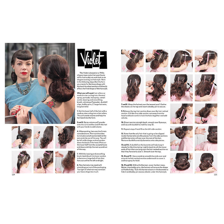 Vintage Hairstyling Book: Retro Styles with Step-by-Step Techniques (3rd Ed) Violet