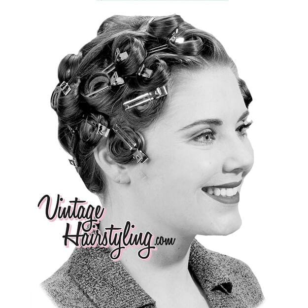 Image of Vintage Hairstyling Lady Elisa Double Prong Pin Curl Clips - Thick Hair  (Pack of 16)