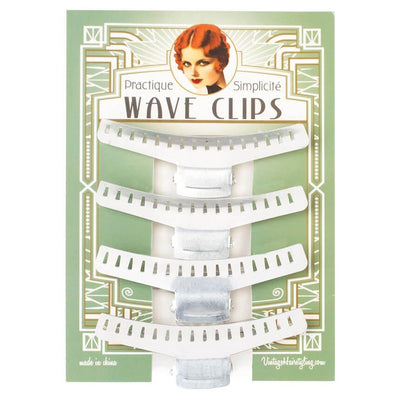 Image of Vintage Hairstyling Pratique Wave Clips (Pack of 4)