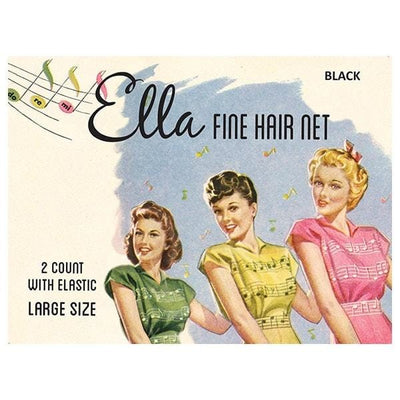 Image of Vintage Hairstyling Ella Hair Nets (Pack of Two) - Black