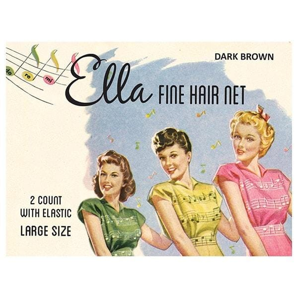 Image of Vintage Hairstyling Ella Hair Nets (Pack of Two) - Dark Brown