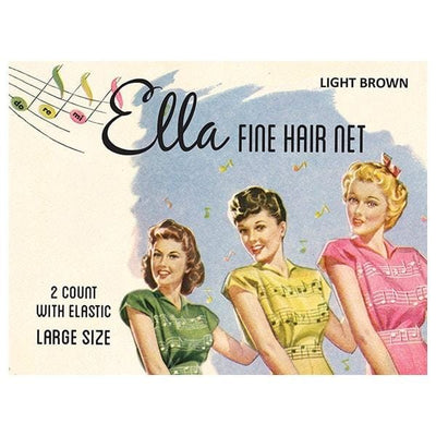 Image of Vintage Hairstyling Ella Hair Nets (Pack of Two) - Light Brown