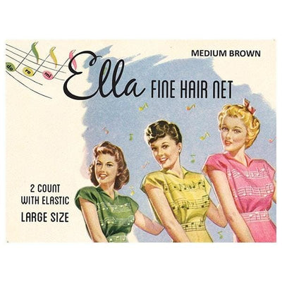 Image of Vintage Hairstyling Ella Hair Nets (Pack of Two) - Medium Brown