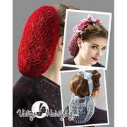 Image of Vintage Hairstyling Gloria Roux Hair Snood - Sky Blue