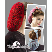 Vintage Hairstyling Gloria Roux Hair Snood - on model