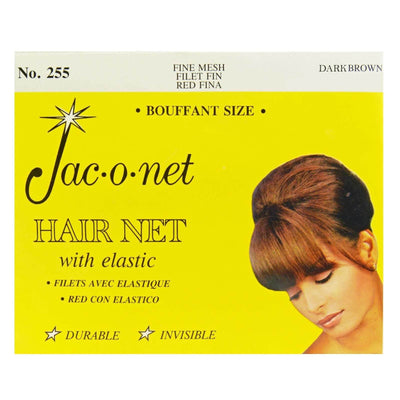 Image of Vintage Hairstyling Jac-O-Net Hair Net - Dark Brown