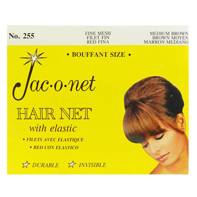 Image of Vintage Hairstyling Jac-O-Net Hair Net - Medium Brown