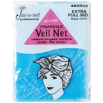 Image of Vintage Hairstyling Jac-O-Net Triangle Veil Net - Blue