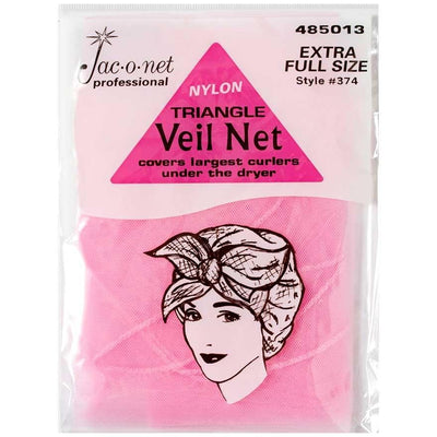 Image of Vintage Hairstyling Jac-O-Net Triangle Veil Net - Pink