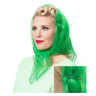 Vintage Hairstyling Tidy Tresses Hair Scarf - Green
