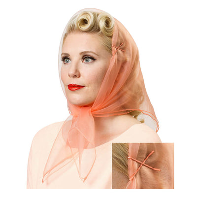 Vintage Hairstyling Tidy Tresses Hair Scarf - Peach