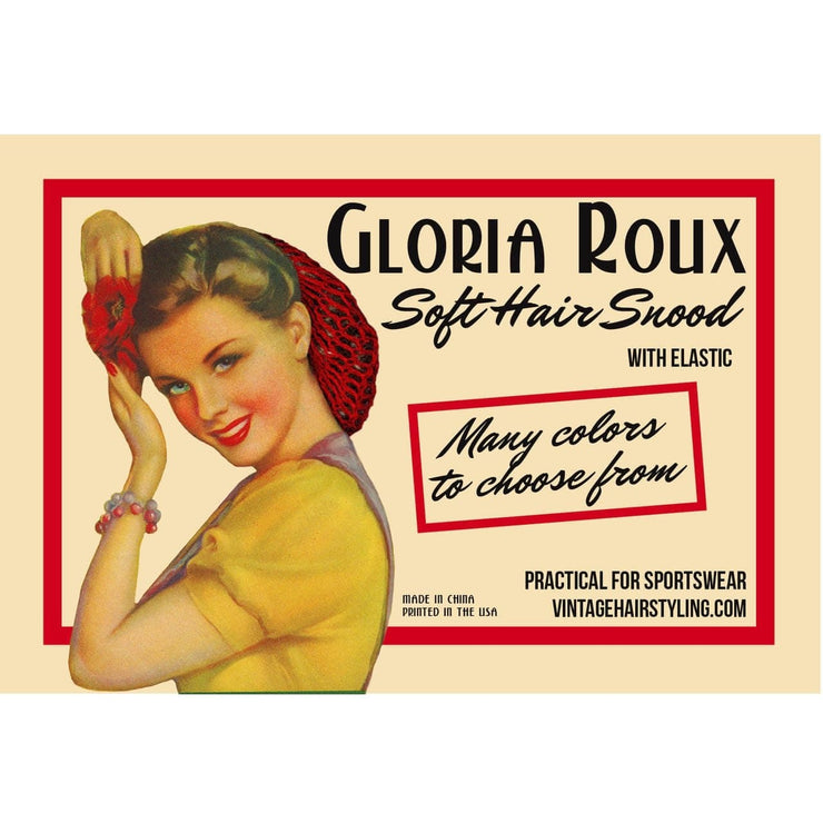 Image of Vintage Hairstyling Gloria Roux Hair Snood - Black