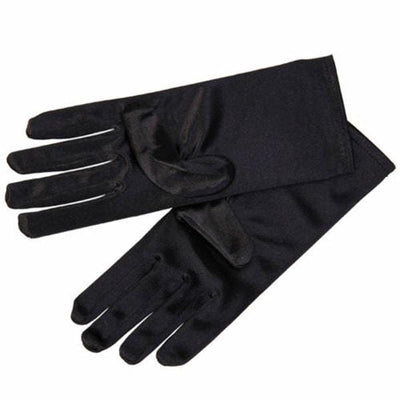 Image of Evening Gloves - Wrist Length - Black