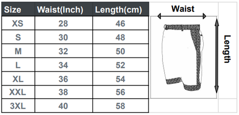 Golf Shorts Size Guide