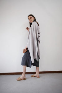 Athena Wrap - Pale Grey