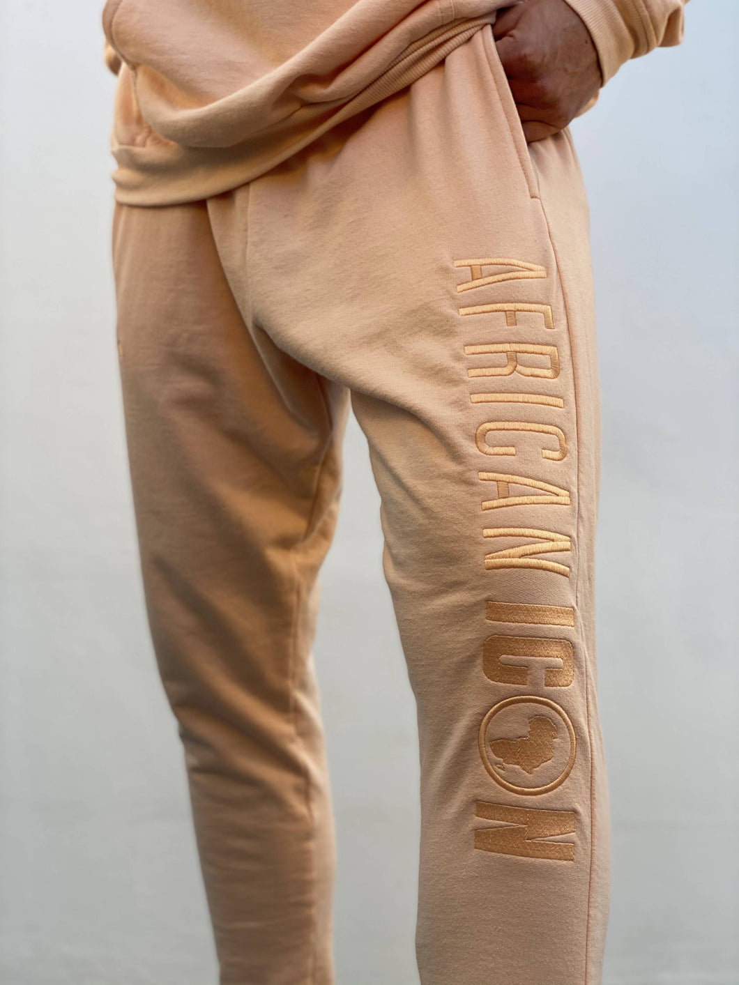 African Icon Peach track pants