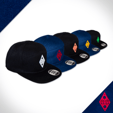 locally made 5 panel flat peak Cap range.