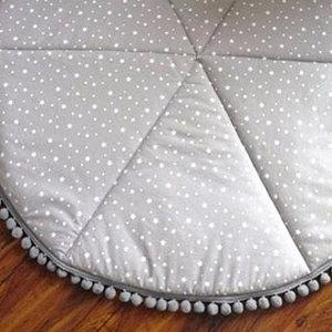 Round Baby Play Mat grey