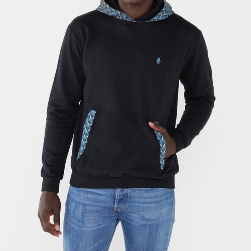 Africa Made Only Hooded Ocean weave black