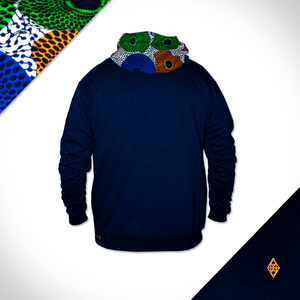 Hooded Orange Orbs - Back - Navy