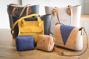 Leather bags shweshwe cork