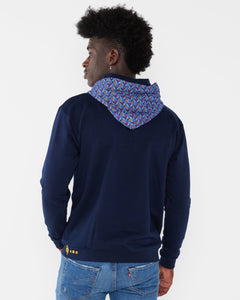 Navy Hooded Weave Royal Africa made only