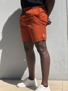Orange shweshwe swimwear