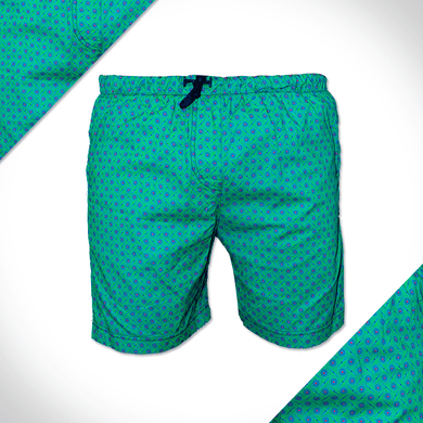 green shweshwe beach shorts swimwear