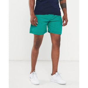 Green shweshwe swim shorts